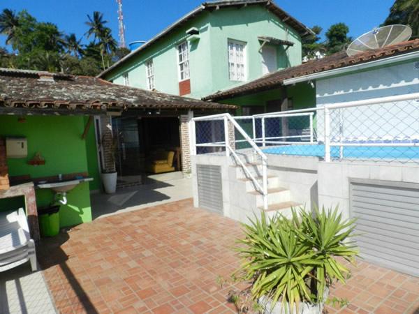 Area da piscina e da churrasqueira :: Pousada Caravelas - Guarapari ES