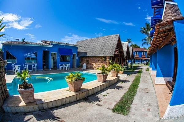 Vista entrada :: Pousada e Chalés Aquamarine - Caraguatatuba SP
