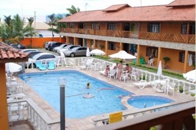 Piscina e Apartamentos :: Hotel Pousada Paradise - Caraguatatuba SP