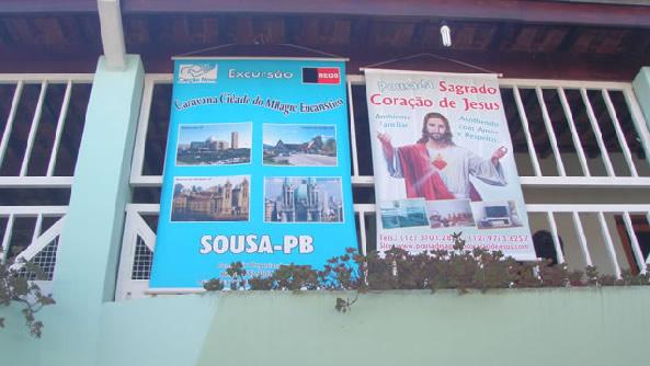 Frente da pousada :: Pousada Sagrado Coração de Jesus - Cachoeira Paulista SP