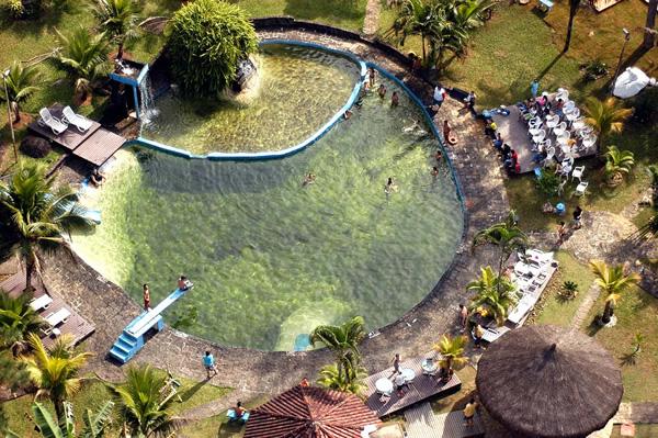 Vista Aérea Piscina Natural :: Pousada das Cachoeiras - Ubatuba SP