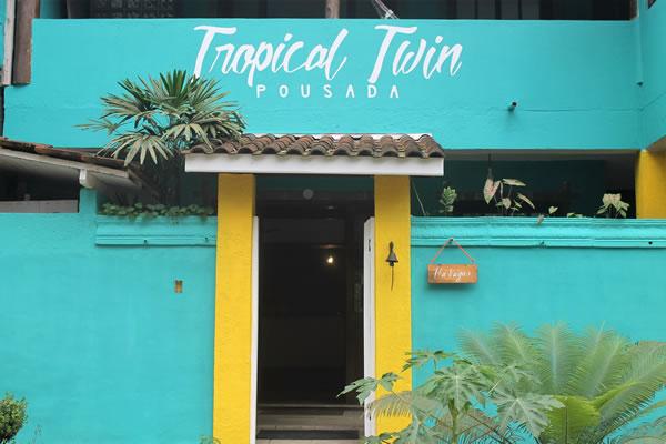 A entrada da nossa pousada Tropical. :: Pousada Tropical Twin - Ubatuba SP