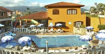 Vista piscinas :: Hotel Pousada Paradise - Caraguatatuba SP