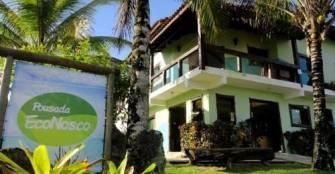 fachada e recepção :: Pousada Econosco - Caraguatatuba SP